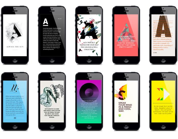 Notegraphy, mensajes de texto bonitos y de diseño