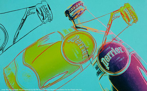 Perrier, etiquetas Warhol 150 aniversario