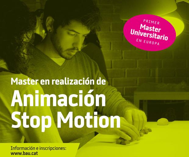 stop motion, master animación BAU