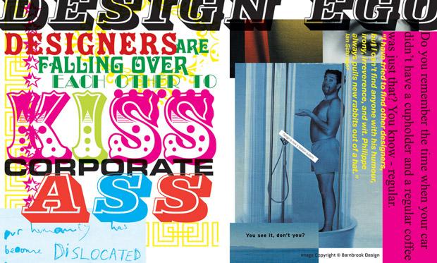 Barnbrook, tipografía cartel Philippe Starck