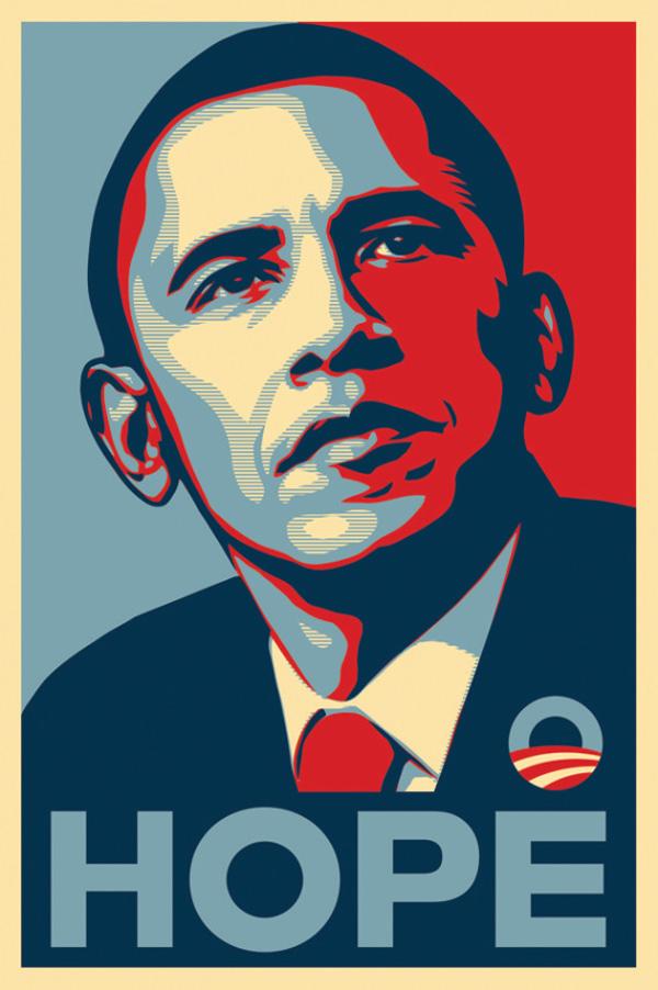 04 obama hope Obey Los 10 posters más admirados por su diseño en 50 años de historia