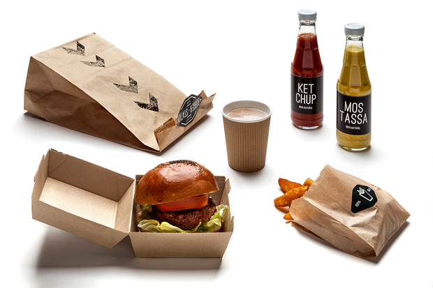Burger Station, branding y packaging de Nueve Estudio