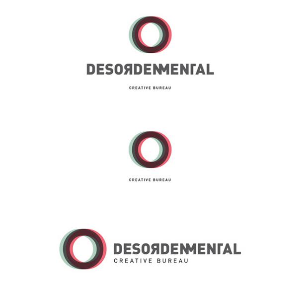 Desorden Mental, 3 versiones del logo diseño de Juanjo Rivas