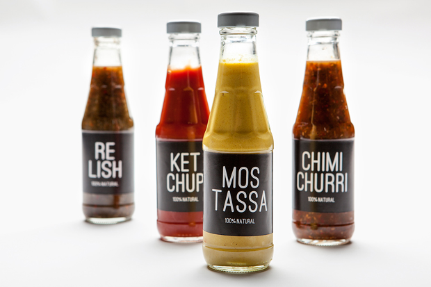 Burger Station, packaging de salsas Nueve Estudio