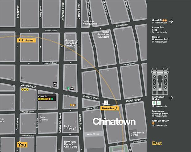 WalkNYC, mapas de NY diseñados por Pentagram