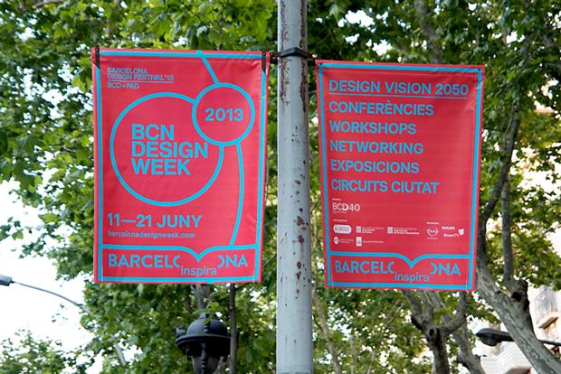 Clase bcn, banderolas para la BCN Design Week