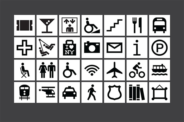 WalkNYC, iconos de Pentagram para mapas de NY