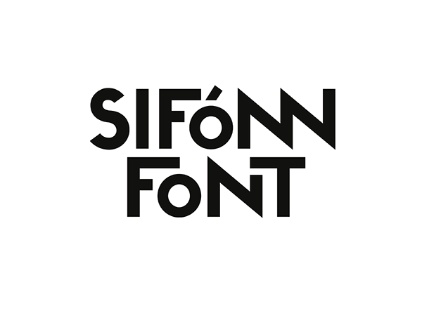 Siffon Font, fuente display de Rafa Goicoechea