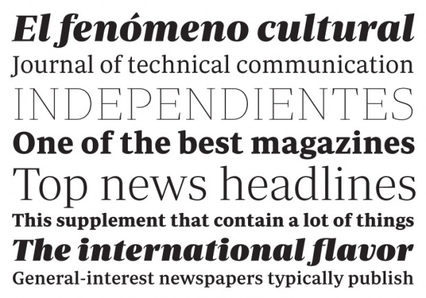 Periodico text display