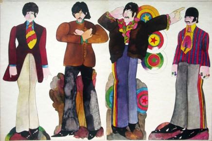 ¿Quién diseñó los personajes de los Beatles en Yellow Submarine?