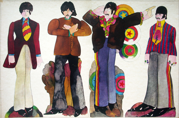 Heinz Edelmann ilustró los personajes de The Beatles en Yellow Submarine