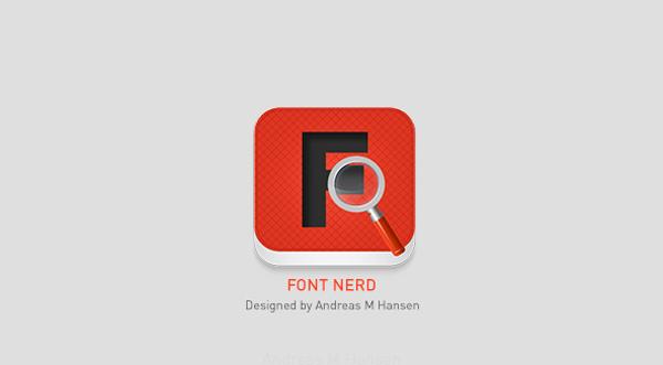 Font Nerd, app apadrinada por MyFonts