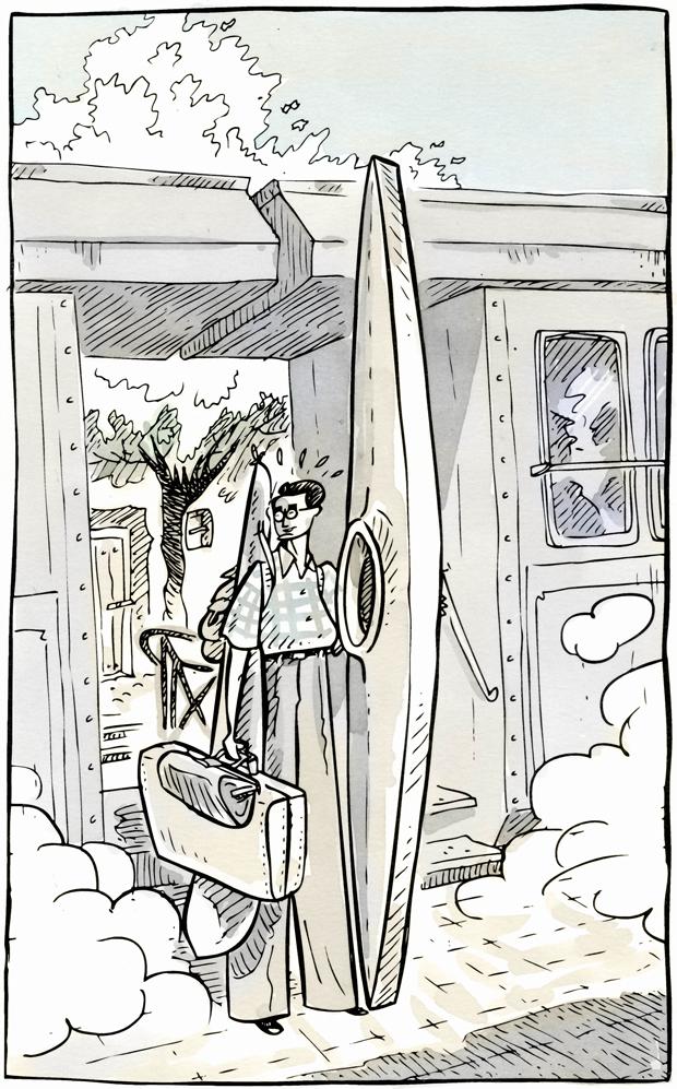 Sento Llobell, viñeta de la novela gráfica Un médico novato