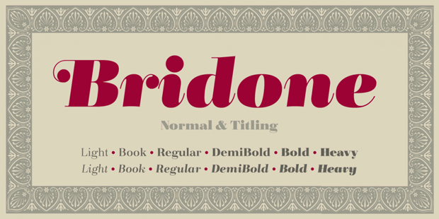 Bridone, familia de Tipo Pèpel