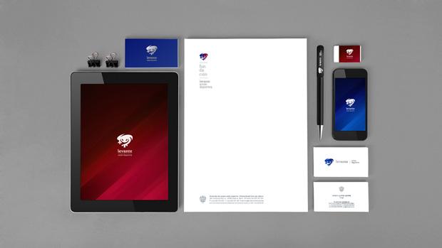Levante UD, papelería de la nueva identidad corporativa