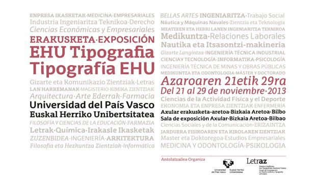 La Universidad del País Vasco estrena tipografía corporativa