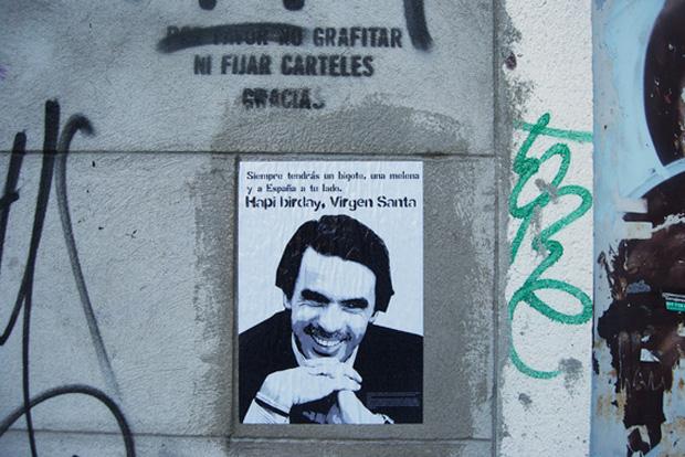 Ana Botella Crew, graffiti Aznar y su bigote