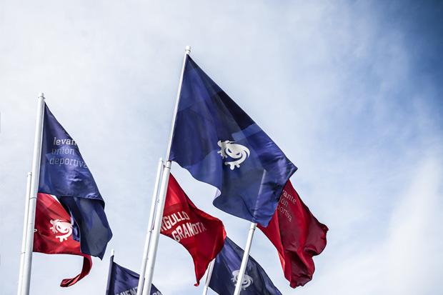 Levante UD, banderolas de la nueva identidad corporativa