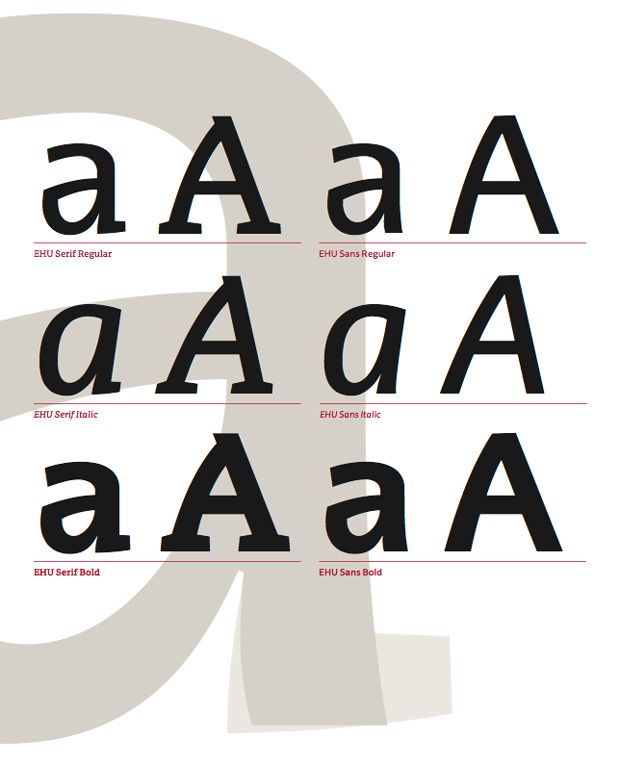 nueva tipografía Universidad del País Vasco EHU