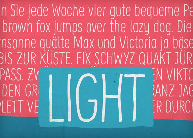 Supernett, font Light