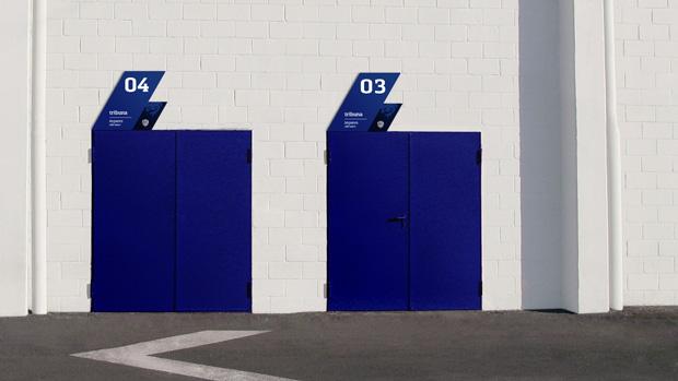 Levante UD, señalización exterior de la nueva identidad corporativa