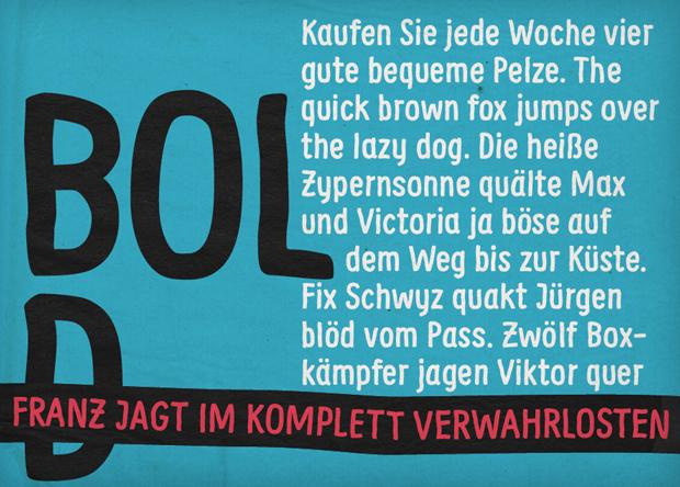 Supernett, font Bold
