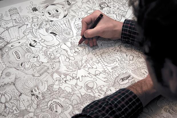El ilustrador Bandid8 dibujando
