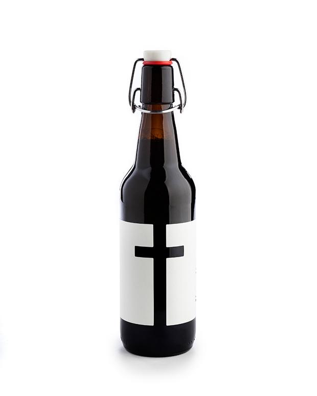 Cerveza, L'ermita packaging de Nueve Estudio