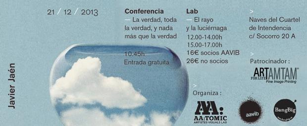 Javier Jaén, flyer conferencia + lab en Mallorca