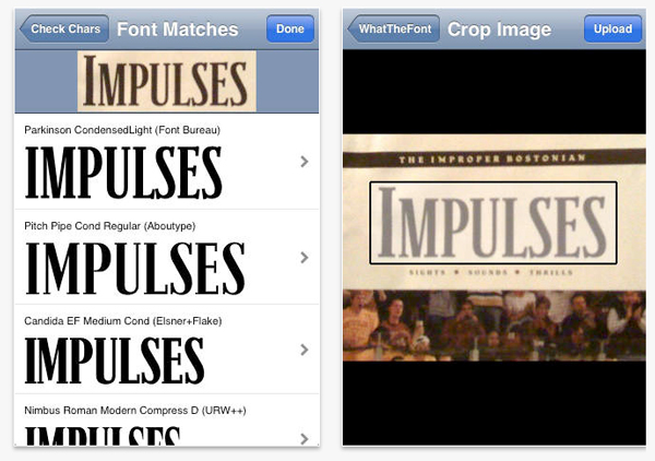 apps de tipografía, What the Font – app para tipópatas