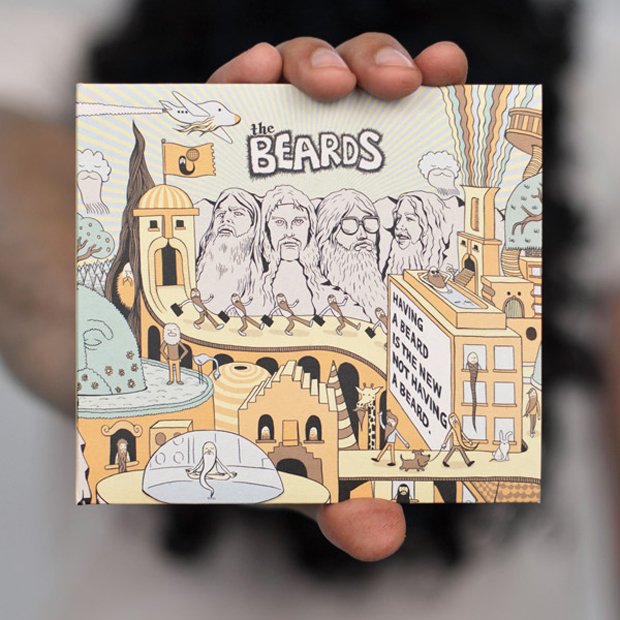 barbudos, portada álbum TheBeards