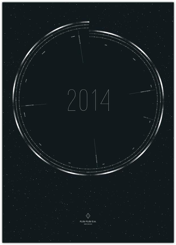 Calendario lunar 2014 diseño de Flou Flou
