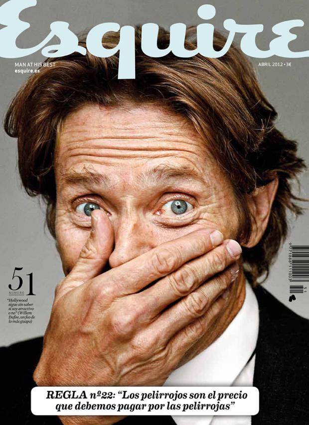 Clara Montagut, portada nº 27 Esquire con Willem Dafoe