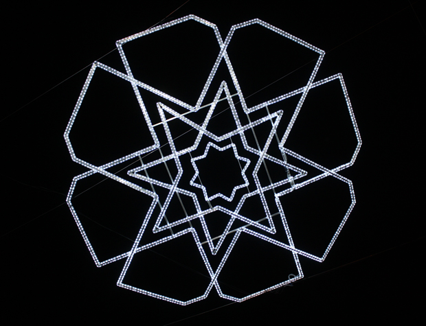 esgrafiado segoviano, iluminación navideña de Adrián Cugar