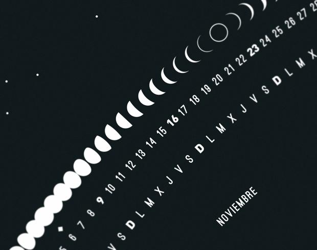 Calendario lunar 2014 diseñado por Flou Flou