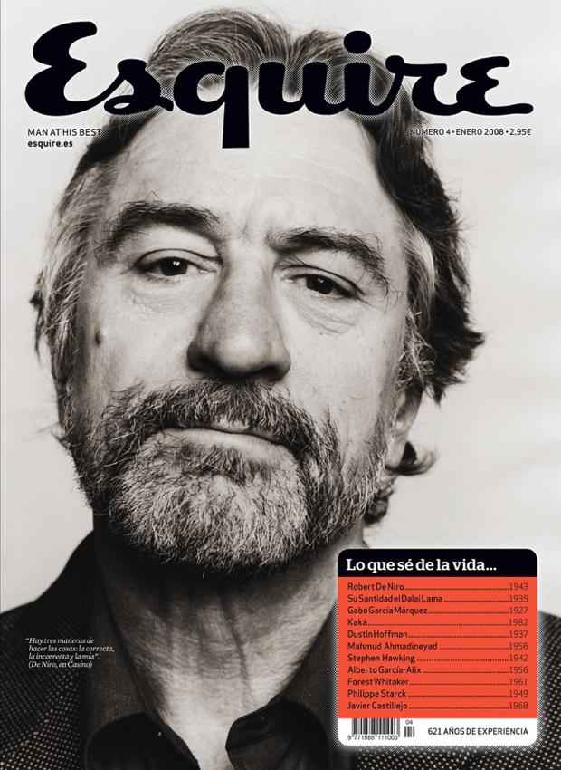 Clara Montagut, portada Robert de Niro para nº 4 Esquire