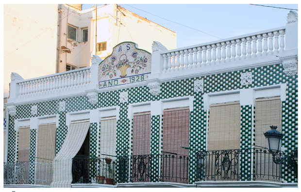 Houses from El Cabanyal, fotografía fachada casa de Germán Caballero