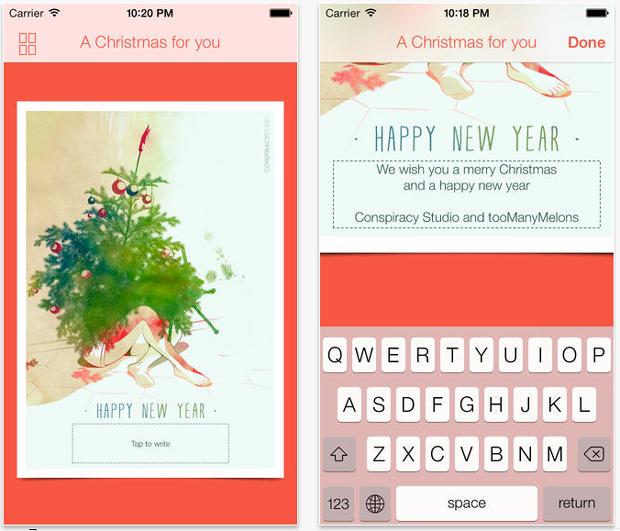 A Christmas for you, aplicación