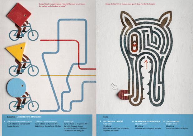 Isidro Ferrer, ilustraciones cuadernillo Cahiers de Vacances