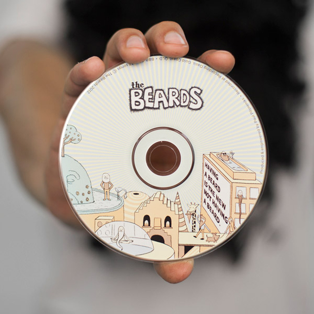 barbudos, galleta álbum TheBeards