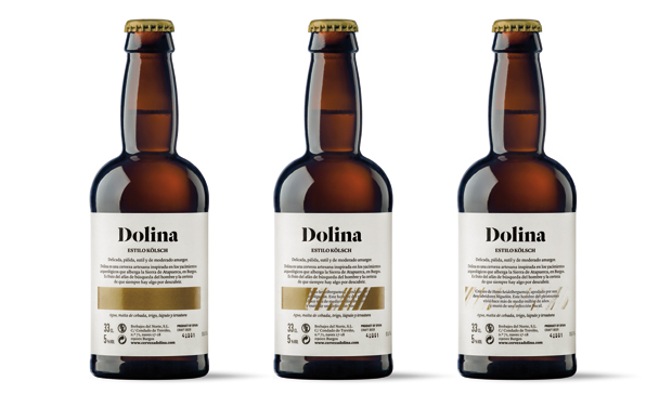 Dolina, packaging de estudio Moruba contraetiqueta 3 pasos