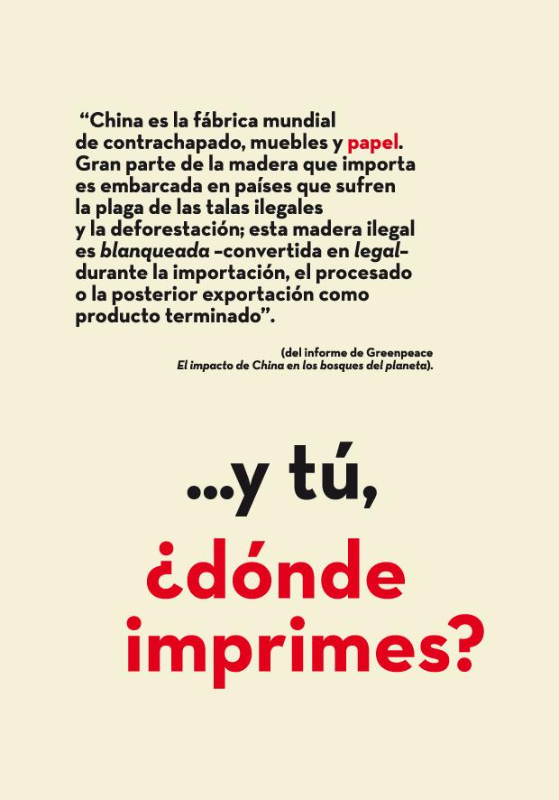Álvaro Sobrino, cartel Greenpeace
