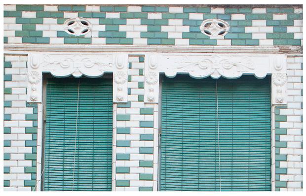 Houses from El Cabanyal, fotografía fachada casa verde de Germán Caballero