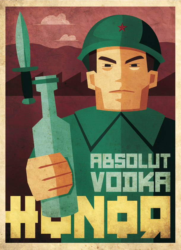 Josevi Catalá, ilustración Absolut Vodka