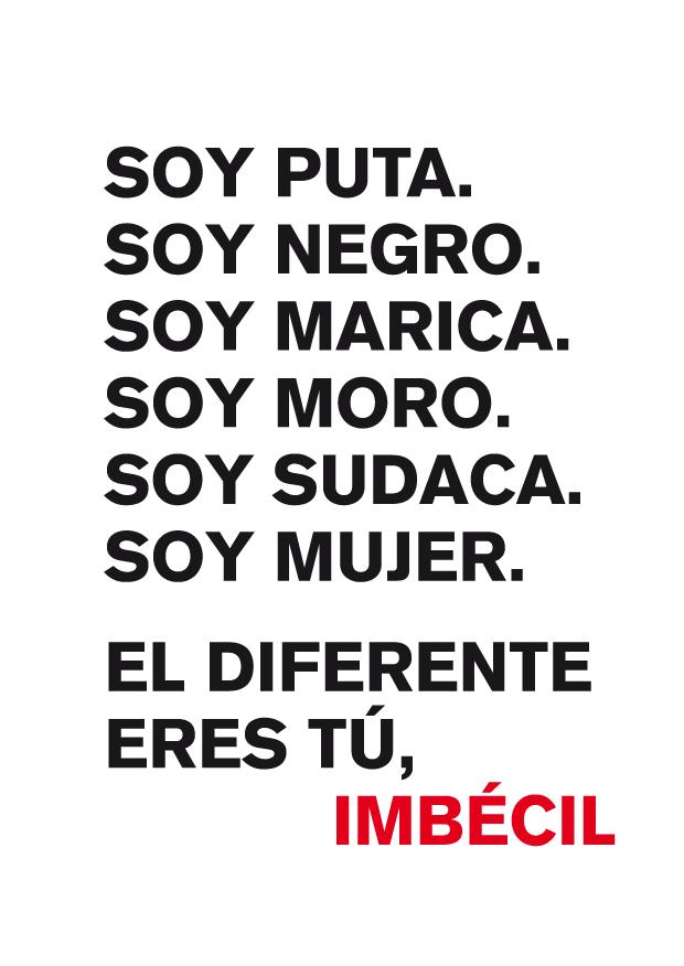 Álvaro Sobrino, cartel Soy Puta