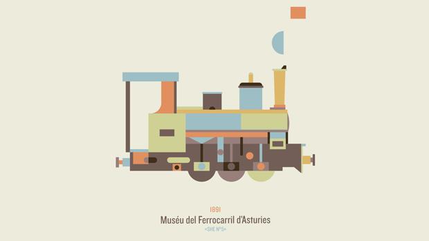 Atipo, diseño para el Muséu del Ferrocarril d'Asturies