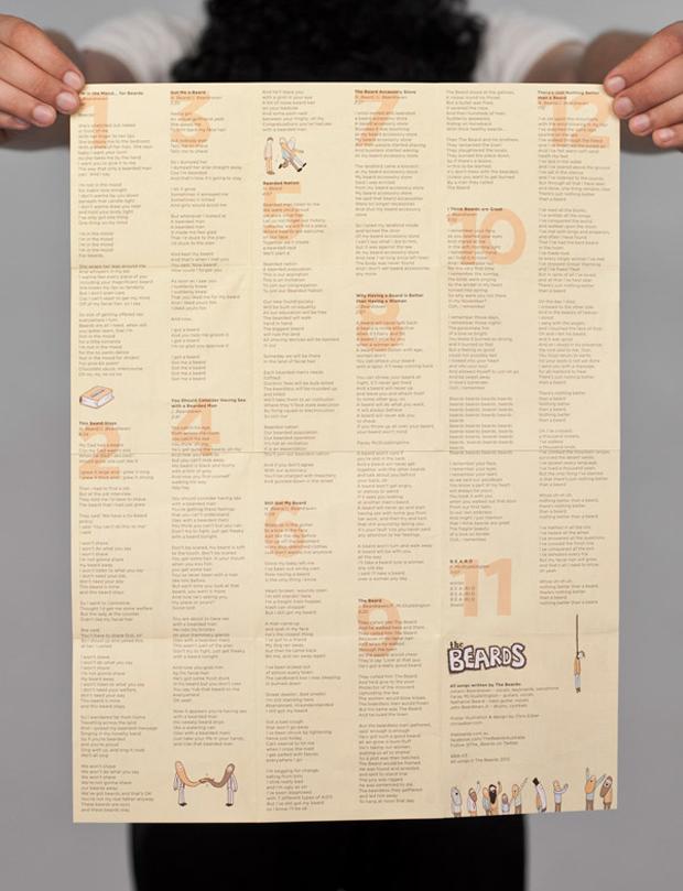 barbudos, ilustraciones folleto interior álbum TheBeards