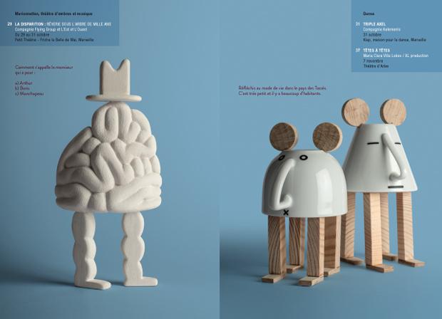Isidro Ferrer, ilustraciones 'tazas' para el cuadernillo Cahiers de Vacances