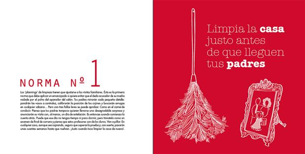 Home Sapiens, Guía de supervivencia ilustrada para jóvenes emancipados – páginas interiores