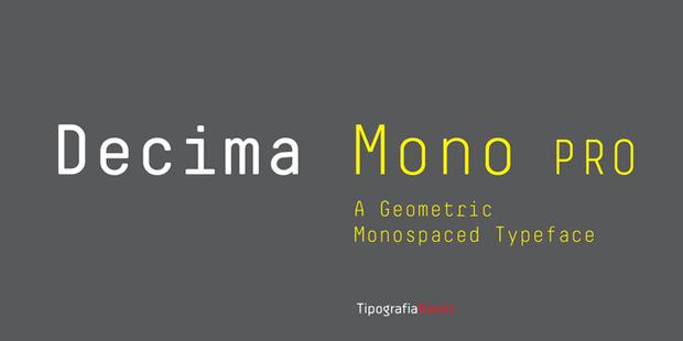Decima Mono Pro – tipografía geométrica